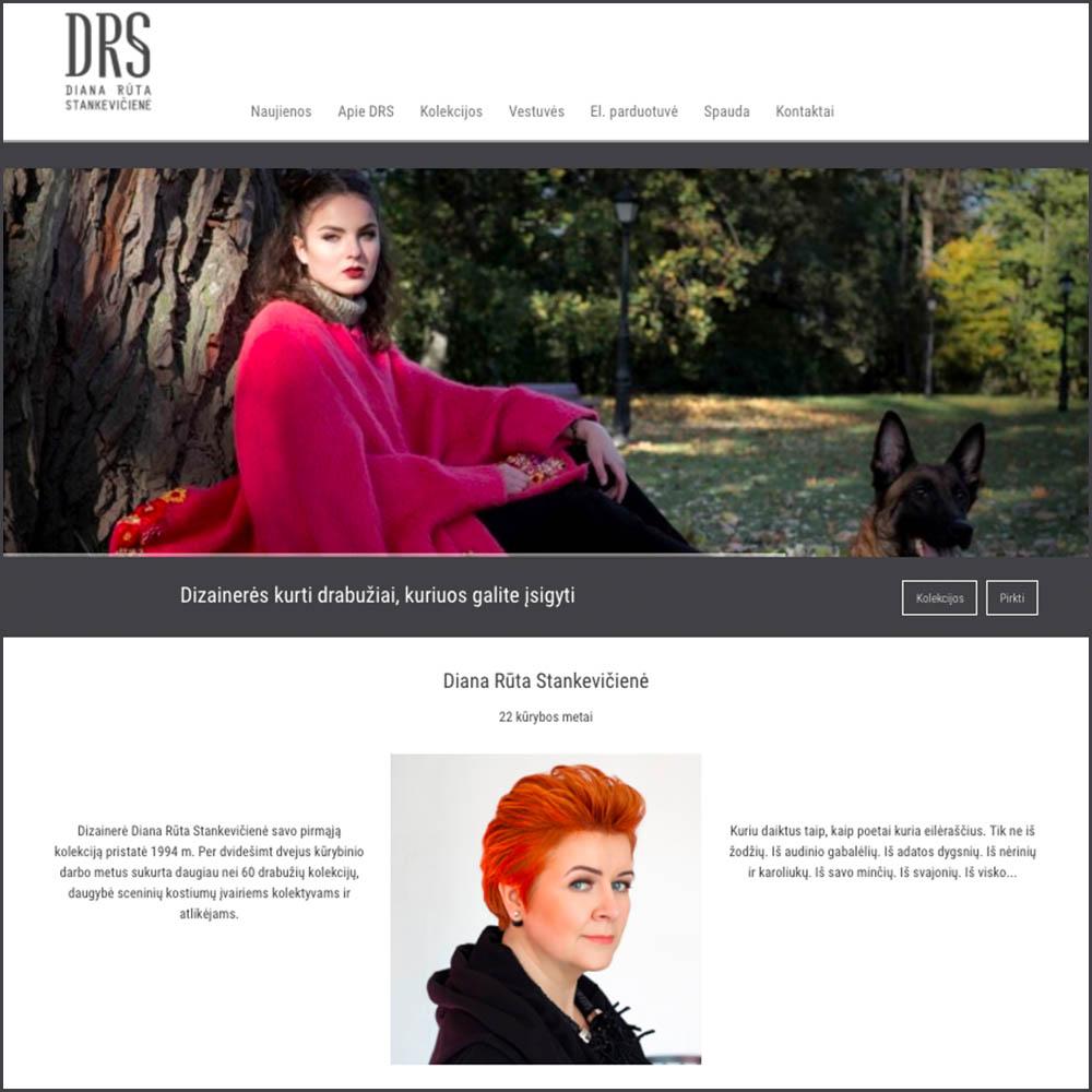 Dizainere Diana Ruta Stankeviciene. DRS kodas. Websol