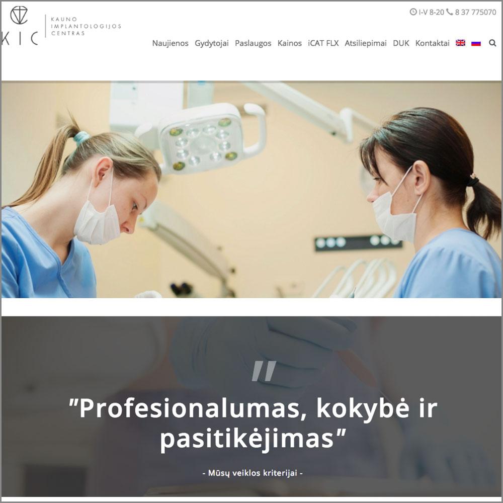 Kauno implantologijos centras. KIC. Websol